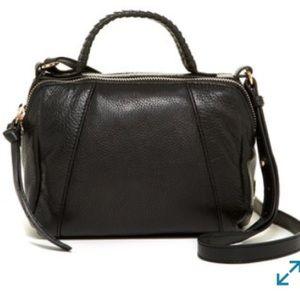 Kooba Turner Leather Micro Satchel In Black